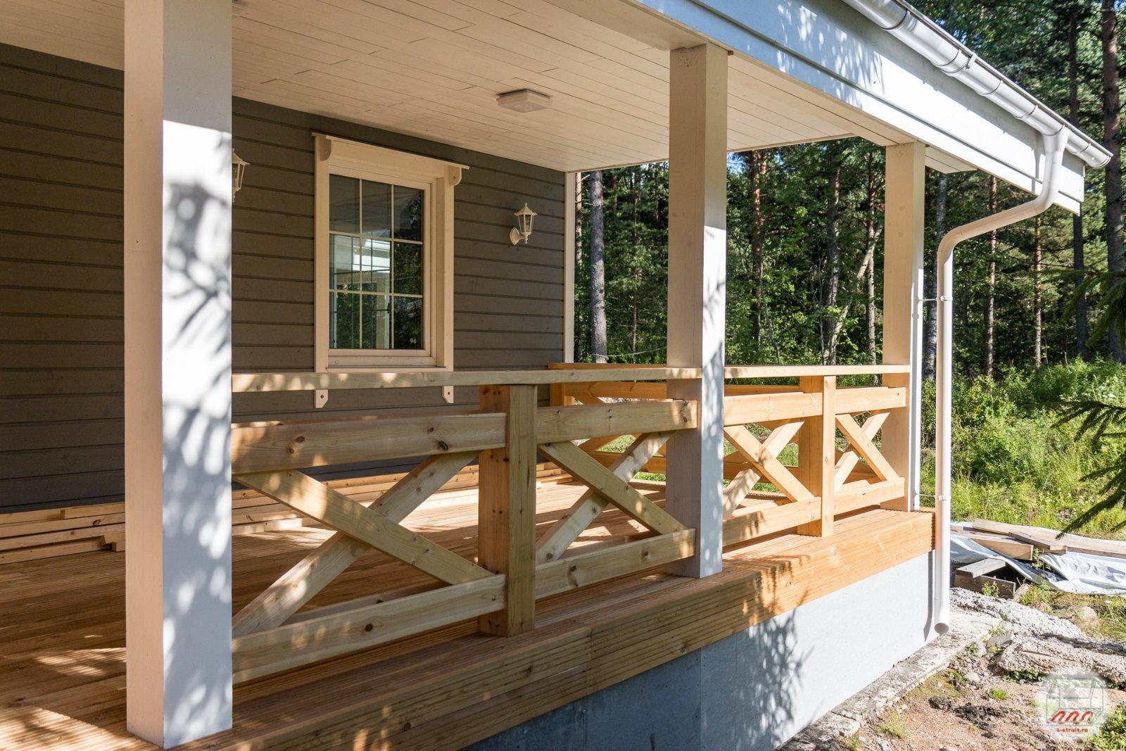 веранда из бруса к деревянному дому фото существует довольно простой