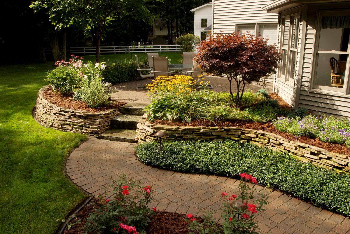 задумал как оформить газон перед домом фото женщины школах